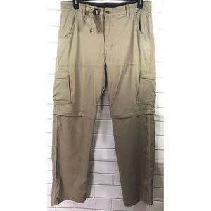 PrAna Zion Convertible Nylon Stretch Cargo Pants
